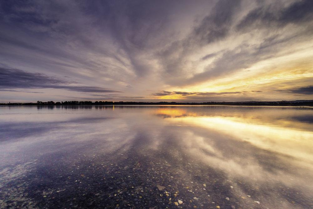Afterburner - Sunset cloud reflections at Pandora Estuary