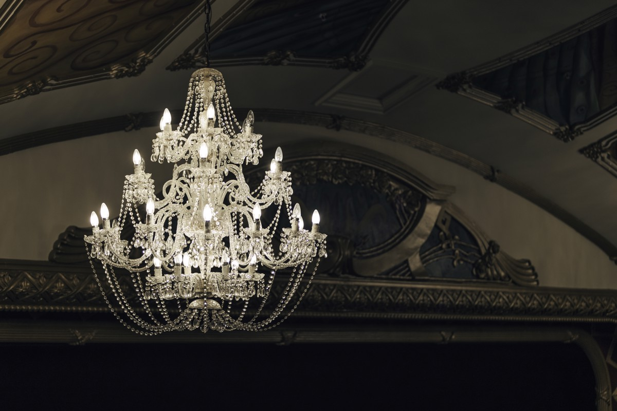 Opera House Chandelier - The Hastings Opera House was built in 1915 and recently reopened after extensive refurbishment and earthquake strengthening.